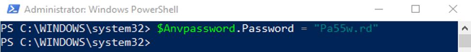 $Anvpassword.Password