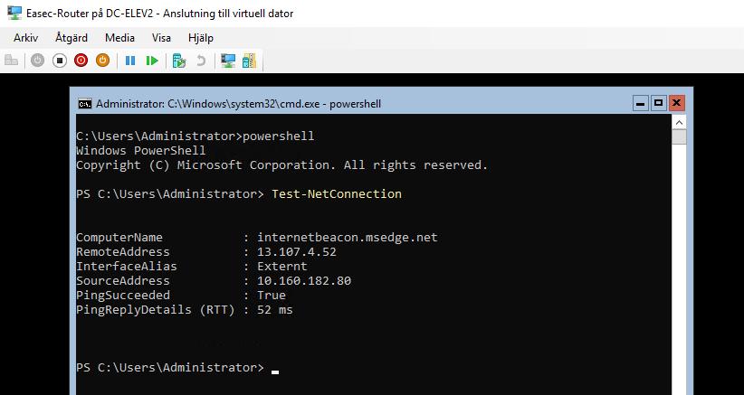 Installera och konfigurera NAT med Windows PowerShell